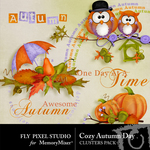 Cozy Autumn Day Cluster Pack-$1.99 (Fly Pixel Studio)