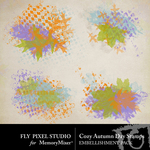 Cozy Autumn Day Stamp Pack-$1.99 (Fly Pixel Studio)