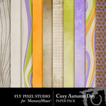 Cozy Autumn Day Paper Pack-$3.99 (Fly Pixel Studio)