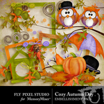 Cozy Autumn Day Embellishment Pack-$2.99 (Fly Pixel Studio)