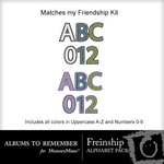 Friendship Alphabet Pack-$3.49 (Albums to Remember)