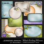 Whos Fooling Whoo Journal Pack-$2.99 (Jumpstart Designs)