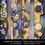 Denim Days of Autumn Border Pack-$2.99 (Jumpstart Designs)