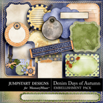 Denim Days of Autumn Journal Pack-$2.99 (Jumpstart Designs)