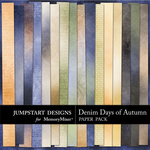 Denim Days of Autumn Add On Paper Pack-$3.99 (Jumpstart Designs)