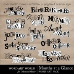 Months at a Glance WordArt Pack-$2.49 (Word Art World)