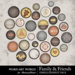 Family and Friends Brad Pack-$2.50 (Word Art World)