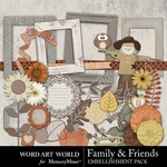 Family and Friends Embellishment Pack-$3.49 (Word Art World)
