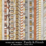 Family and Friends Paper Pack-$2.00 (Word Art World)