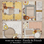 Family and Friends QUICK PAGE QuickMix-$1.75 (Word Art World)