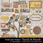 Family and Friends WordArt and Alphabet Pack-$3.99 (Word Art World)