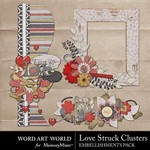 Love Stuck Cluster Pack-$2.49 (Word Art World)
