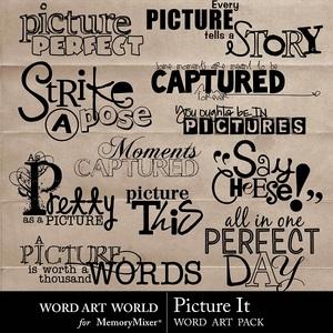 Picture it wordart medium
