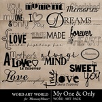My One and Only WordArt Pack-$2.49 (Word Art World)