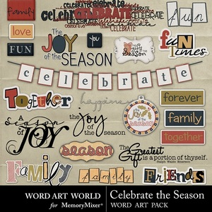 Celebrate the season wordart medium
