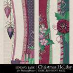 Christmas holiday borders small