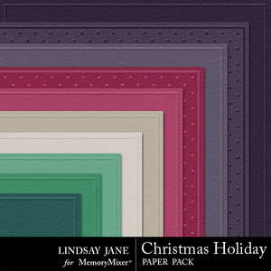 Christmas holiday embossed pp medium