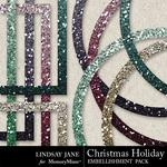 Christmas holiday frames 2 small