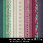 Christmas Holiday Paper Pack-$3.99 (Lindsay Jane)