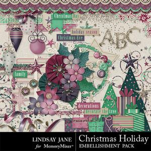 Christmas holiday emb medium