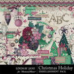 Christmas Holiday Embellishment Pack-$3.49 (Lindsay Jane)