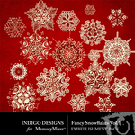 Fancy Snowflakes Pack Volume 1-$1.99 (Indigo Designs)