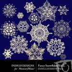 Fancy Snowflakes Pack Volume 2-$1.99 (Indigo Designs)