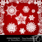 Fancy Snowflakes Pack Volume 3-$1.99 (Indigo Designs)
