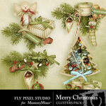 Merry Christmas FPS Cluster Pack-$1.99 (Fly Pixel Studio)