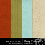 Merry Christmas FPS Textured Paper Pack-$3.49 (Fly Pixel Studio)