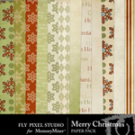 Merry Christmas FPS Paper Pack-$3.99 (Fly Pixel Studio)