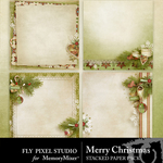 Merry Christmas FPS Stacked Paper Pack-$2.99 (Fly Pixel Studio)