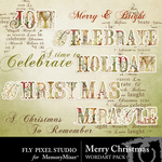 Merry Christmas FPS WordArt Pack-$2.49 (Fly Pixel Studio)