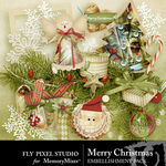 Merry Christmas FPS Embellishment Pack-$2.99 (Fly Pixel Studio)