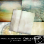 Christmas Party Paper Pack-$1.75 (MagicalReality Designs)