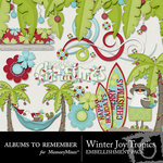 Winter Joy ATR Tropical Embellishment Pack-$2.99 (Albums to Remember)