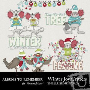 Winter joy critters atr emb medium