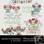Winter Joy ATR Critters Embellishment Pack-$2.99 (Albums to Remember)