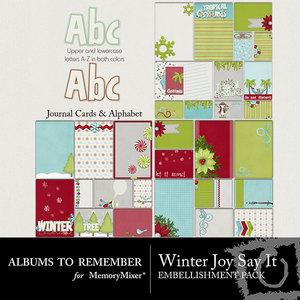 Winter joy say it journals and alpha medium