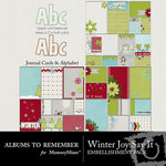 Winter Joy Say It Journal and Alphabet Pack-$3.00 (Albums to Remember)