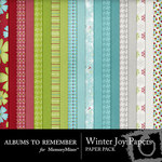 Winter Joy ATR Paper Pack-$4.00 (Albums to Remember)