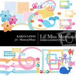 Lil Miss Mermaid Embellishment Pack-$3.49 (Karen Lewis)