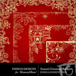 Seasons Greetings ID Gold Border Pack-$1.99 (Indigo Designs)