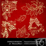 Seasons Greetings ID Gold Outline Pack-$1.99 (Indigo Designs)