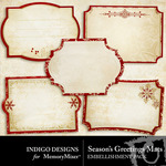 Seasons Greetings ID Mat Pack-$1.99 (Indigo Designs)