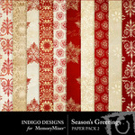 Seasons Greetings ID Patterned Paper Pack-$3.99 (Indigo Designs)