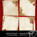 Seasons Greetings ID Stacked Paper Pack-$2.99 (Indigo Designs)