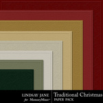 Traditional Christmas LJ Embossed Paper Pack-$2.49 (Lindsay Jane)
