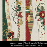 Traditional Christmas LJ Border Pack-$1.99 (Lindsay Jane)