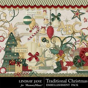 Traditional christmas lj emb medium